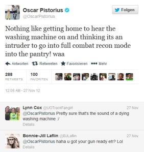 Oscar Pistorius twitter murder